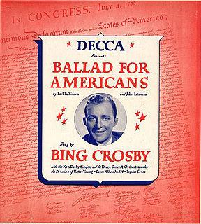 <i>Ballad for Americans</i> (album) 1940 studio album by Bing Crosby