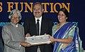 A.P.J. Abdul Kalam giving away the National Award to Dr. Virender Singh Sangwan, Associate Director in the L. V Prasad Eye Institute, Hyderabad & Smt. Geeta K Vemuganti, Director, Ophthalmic Pathologic Service and Head.jpg