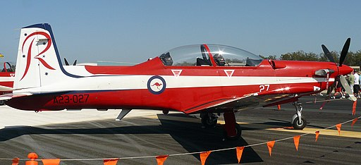 A23-027 Pilatus PC-9A RAAF Roulettes Aerobatic Team (9530730552)
