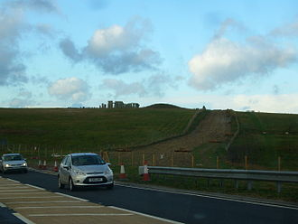 A344 road (England) - Old A344 at Stonehenge, closed in 2013 and 'grassed over' (December 2013)