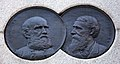 AJ Smith and Grierson medallions - General William Tecumseh Sherman Monument - Sherman Plaza - Washington DC - 2012.jpg