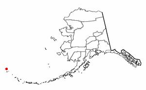 Attu Station, Alaska - Image: AK Map doton Attu Station