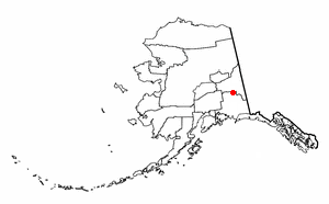 Mentasta Lake, Alaska - Image: AK Map doton Mentasta Lake