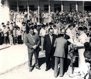 Amirkola - Amirkola. 1972. School ceremony with dignitaries and a representative of Iran Scout Organization