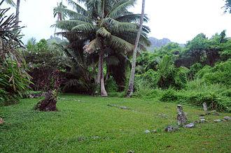 Marae - Arai-te-Tonga marae, Rarotonga.