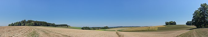 AT 68546 Hügelgräberfeld Lohnergut, Mörschwang-9177 Panorama 180°.jpg