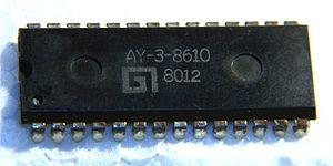 AY-3-8500 - AY-3-8610 chip from 1980