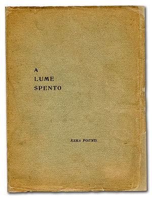 A Lume Spento - Cover, first printing