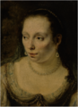 A PORTRAIT OF A LADY, HEAD AND SHOULDERS, WEARING PEARL JEWELRY, POSSIBLY JOHANNA DE GEER.PNG