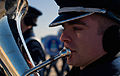 A U.S. Air Force euphonium player with the U.S Air Force Band practices for the 57th presidential inaugural parade at Joint Base Andrews, Md 130110-F-MG591-023.jpg
