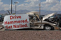 A car sits in the 755th Aircraft Maintenance Squadron's parking lot July 15, 2013, at Davis-Monthan Air Force Base, Ariz., to represent an accident resulting from drunk driving 130715-F-WQ860-006.jpg