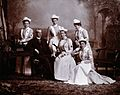 A doctor with five nurses; studio portrait. Photograph, ca. Wellcome V0027520.jpg
