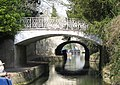 A footbridge over the Kennet and Avon Canal in Sydney Gardens, Bath, dated 1800, designed by John Rennie Kennet and Avon canal..jpg