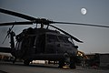 A nearly full moon illuminates an HH-60G Pave Hawk helicopter Aug. 21, 2010, at Kandahar Airfield, Afghanistan, during the Muslim holy month of Ramadan 100821-F-OL185-636.jpg
