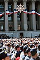 A view of the National Archives Building decorated with bunting and a symbol of the US Navy Memorial dedication - DPLA - 8e15d3b1102b89ab166bc1d69dd2f0b9.jpeg