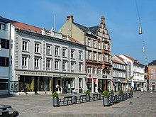 10ab6aa97cfb The central parts of the square with the historic pharmacy of Løveapoteket. Store  Torv ...