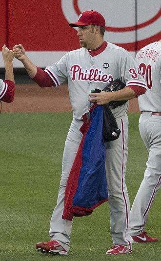 Aaron Harang - Harang with the Phillies in 2015