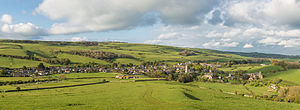 Abbotsbury - Panorama of the village of Abbotsbury as viewed from the south-west at St Catherine's Chapel