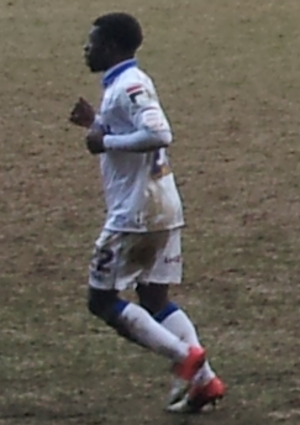Abdulai Bell-Baggie - Abdulai Bell-Baggie playing at Prenton Park in March 2013.