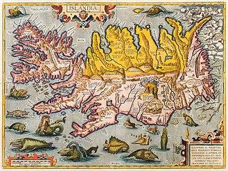Icelandic Commonwealth - Image: Abraham Ortelius Islandia ca 1590