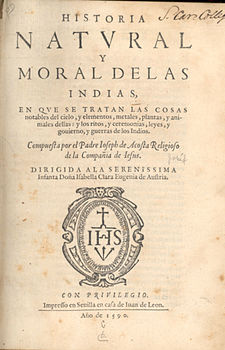 Title page of Historia natural y moral Acosta2.jpg