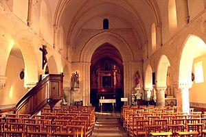 Acqueville, Calvados - Image: Acqueville église Saint Aubin nef
