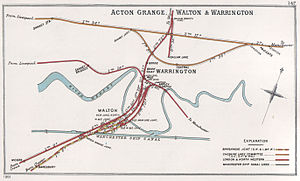 Birkenhead Railway - Image: Acton Grange, Walton & Warrington RJD 147