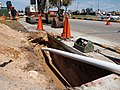 Acu-Tech HDPE Pipe being installed by directional drilling.jpg