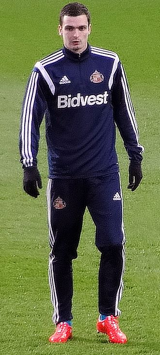 Adam Johnson (footballer) - Johnson warming up for Sunderland in 2015