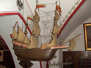 Adler von Lübeck - Image: Adler von Lübeck. Model ship 02