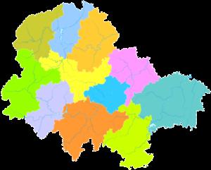 Sanming - Image: Administrative Division Sanming