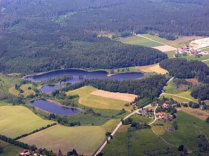 Seeon Lakes - Seeleiten-, Mitter- and Jägersee (top to bottom)