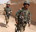 Afghan National Army soldiers with the 6th Kandak, 1st Brigade, 205th Corps prepare for a patrol in Panjwai district in southern Kandahar province, Afghanistan, April 1, 2012 120401-N-BS894-162.jpg