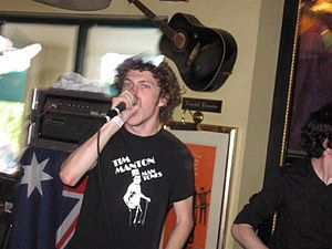 After the Fall (band) - After the Fall singer Ben Windsor performing at the Hard Rock Cafe in Surfers Paradise, 2005.