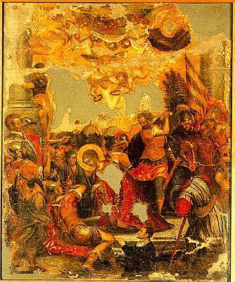Michael Damaskinos - Decapitation of Agia Paraskevi (16th century)