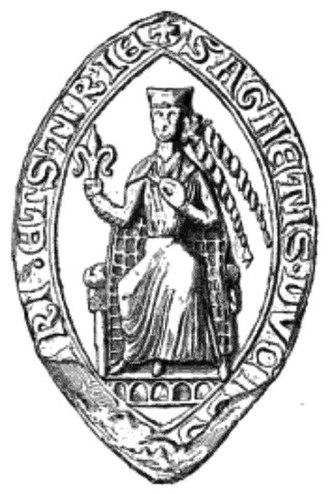 Agnes of Merania (1215-1263) - Seal of Agnes, Duchess of Austria