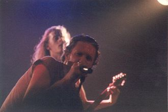 Jerry Cantrell - Layne Staley and Jerry Cantrell performing at The Channel in Boston, MA in 1992