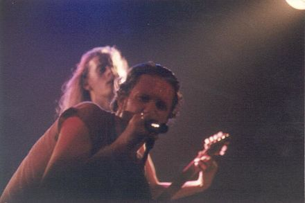 Layne Staley and Jerry Cantrell performing with Alice in Chains at The Channel in Boston in 1992. AiCBoston02.jpg