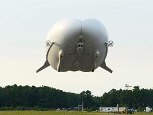 Hybrid airship - The HAV 304 dynastat, seen bow-on