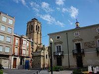 Ajuntament i església de les santes Justa i Rufina (Oriola).JPG