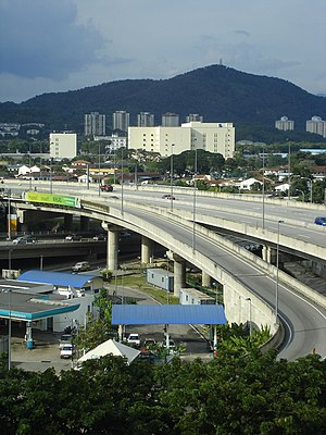 Ampang–Kuala Lumpur Elevated Highway - The highway's interchange with Kuala Lumpur Middle Ring Road 2 in Ampang