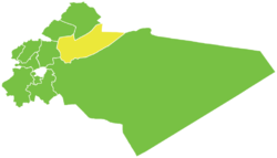 Map of al-Qutayfah District within Rif Dimashq Governorate
