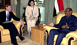 Omar al-Bashir - Bashir and U.S. deputy secretary of state Robert Zoellick, 2005