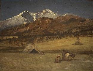 Indian Encampment - Evening