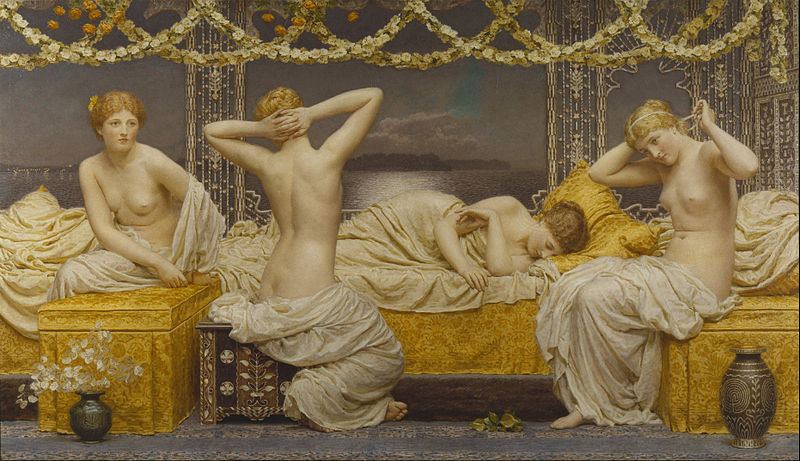 File:Albert Joseph Moore - A Summer Night - Google Art Project.jpg
