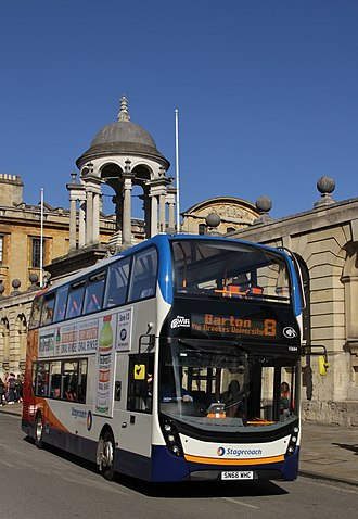 Stagecoach in Oxfordshire - Alexander Dennis Enviro400 MMC outside The Queen's College in High Street, Oxford on route 8 to Barton