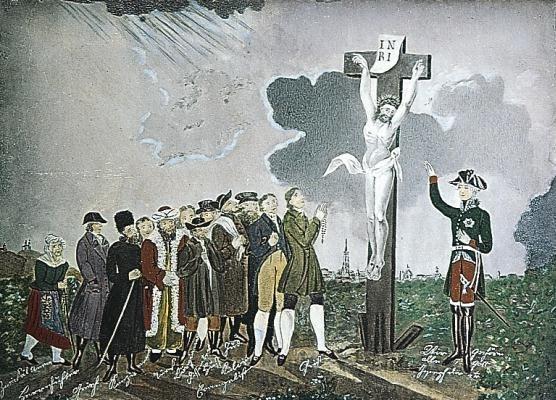 Allegorie auf das Toleranzpatent Kaiser Josephs II