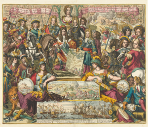 Grand Alliance (League of Augsburg) - Allegory of the Grand Alliance and their victory over the French at Schellenberg in 1704.