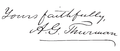Allen G. Thurman Signature (1892).png