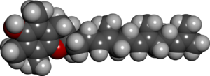 Alpha-Tocotrienol - Image: Alpha tocotrienol spacefill